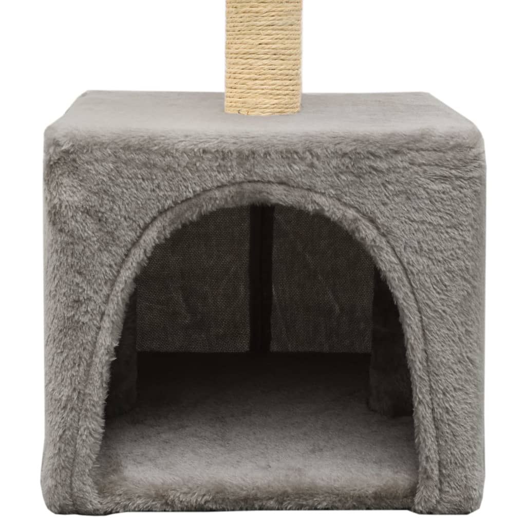 Cat-Tree-with-Sisal-Scratching-Post-55-cm-Grey-Cat-Cave