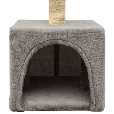 Image of Cat-Tree-with-Sisal-Scratching-Post-55-cm-Grey-Cat-Cave