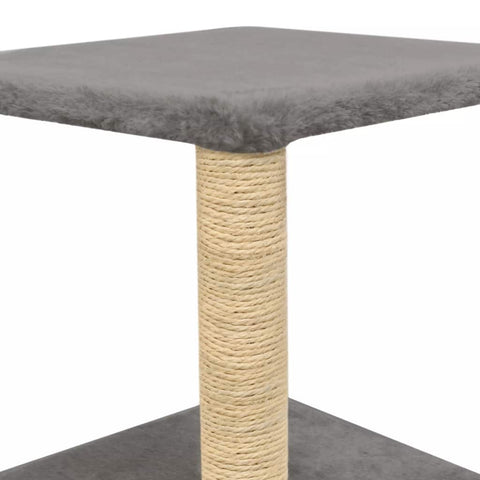 Image of Cat-Tree-with-Sisal-Scratching-Post-55-cm-Grey-Platform-Sisal-Post