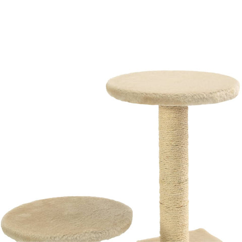 Image of Cat-Tree-with-Sisal-Scratching-Posts-60-cm-Beige-Platform