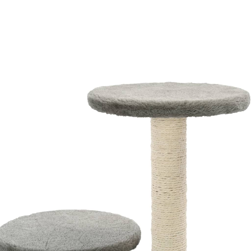 Cat-Tree-with-Sisal-Scratching-Posts-60-cm-Grey-Platform