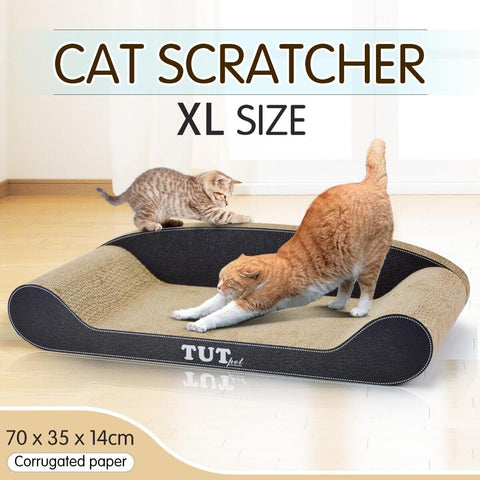Image of Cat Scratching Post Cat Toys Corrugated Cardboard Cat Scratcher Scratchboard - XL