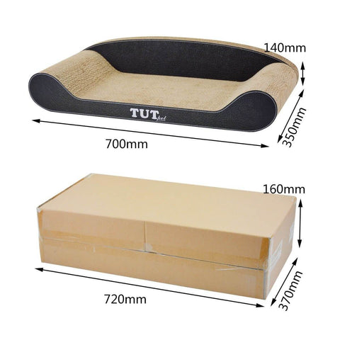 Image of Cat Scratching Post Cat Toys Corrugated Cardboard Cat Scratcher Scratchboard Dimension and Measurement