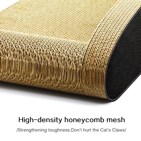 Image of Cat Scratching Post Cat Toys Corrugated Cardboard Cat Scratcher Scratchboard High Density Honey Comb Mesh