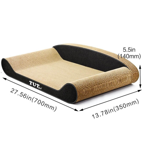 Image of Cat Scratching Post Cat Toys Corrugated Cardboard Cat Scratcher Scratchboard Measurement and Dimension