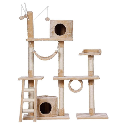 Image of Cat Scratching Post and Tree Gym House
