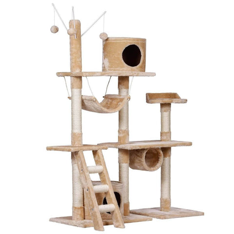Image of Cat Scratching Post and Tree Gym House for Large Cats