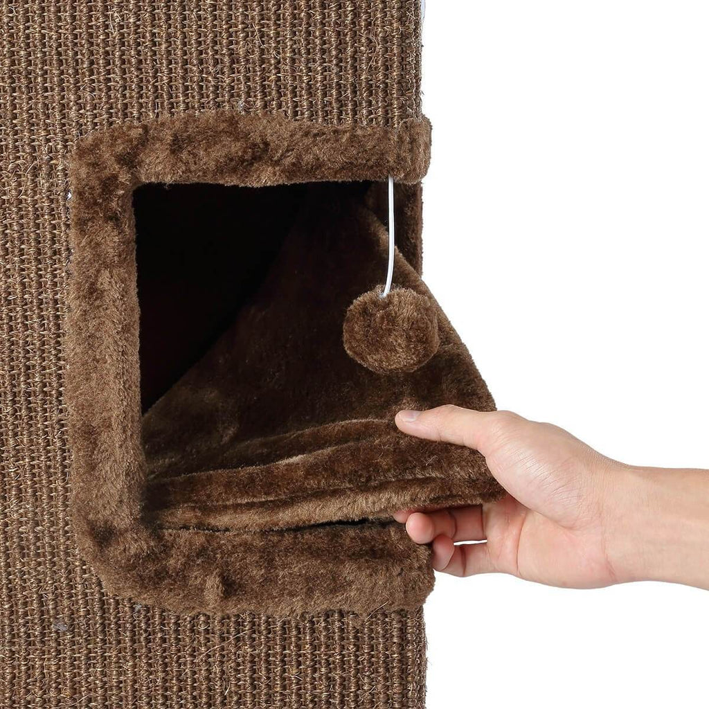 Cat Scratching Tunnel House Soft Plush Covering