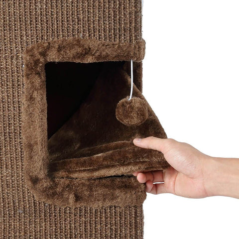 Image of Cat Scratching Tunnel House Soft Plush Covering