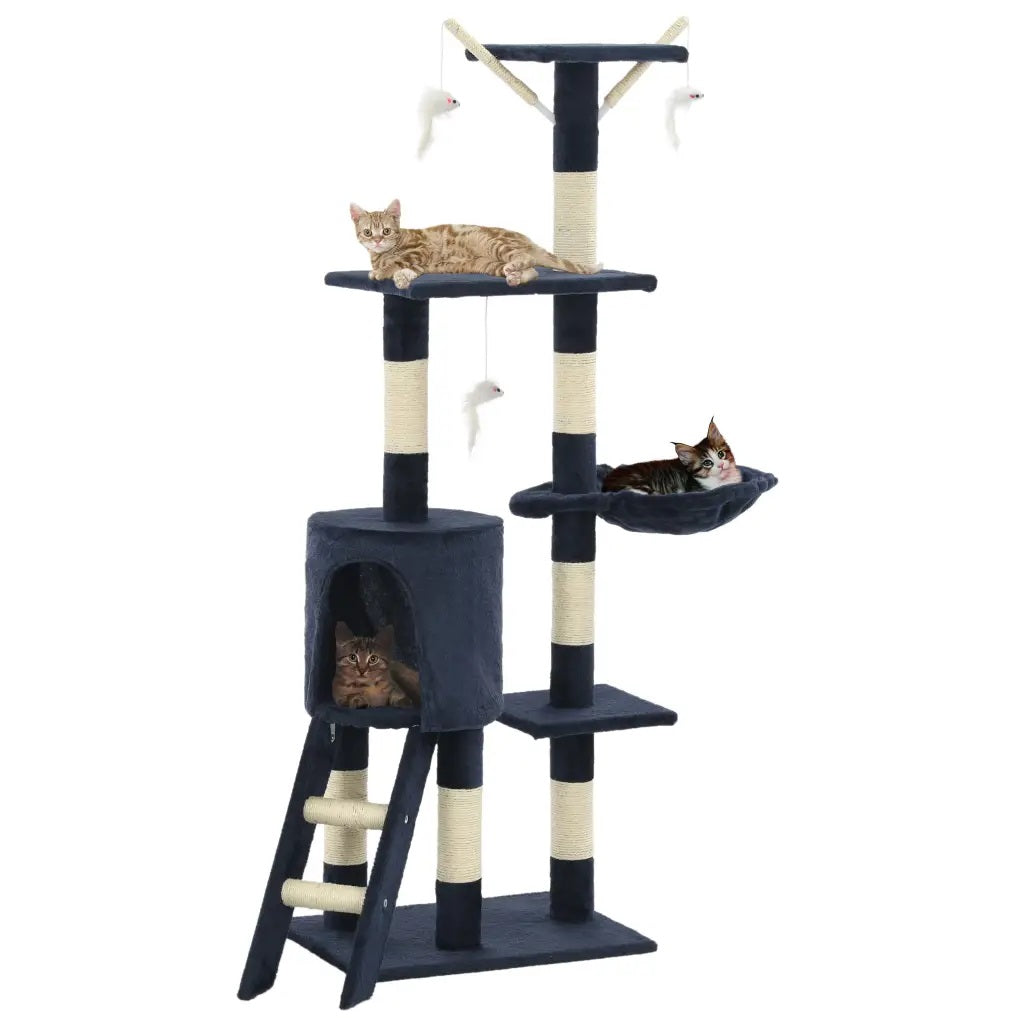 Cat Tree with Sisal Scratching Posts 138 cm