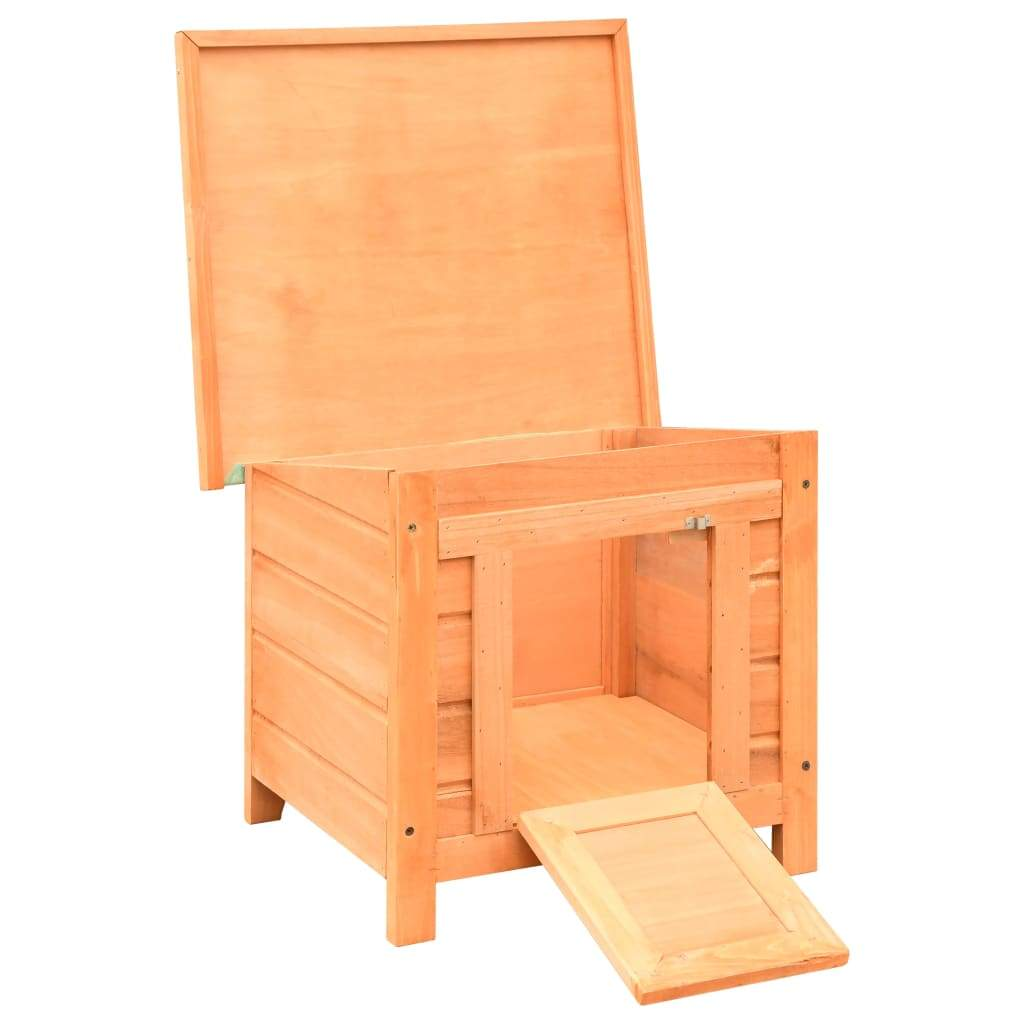 Cat House Solid Pine & Fir Wood 50x46x43.5 cm