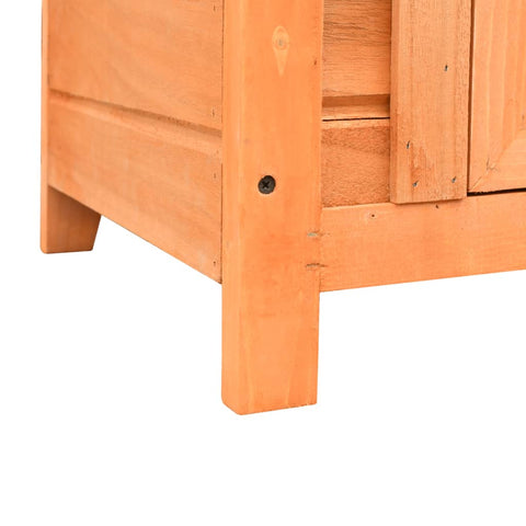 Image of Cat House Solid Pine & Fir Wood 50x46x43.5 cm
