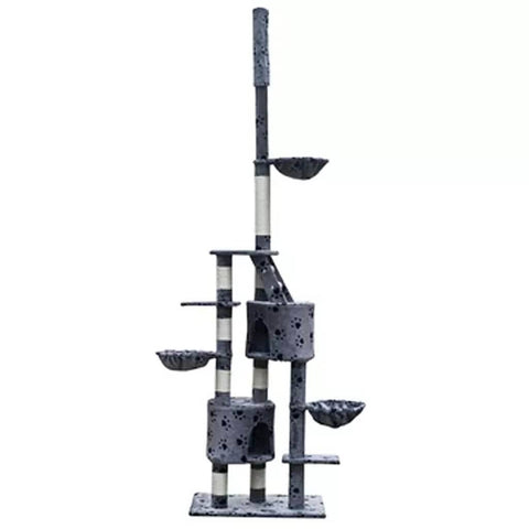 Image of Cat Play Tree Cuddles XL Adjustable Height Everyday Pets