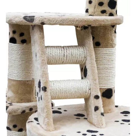 Image of Cat Play Tree Cuddles XL Sisal Post and Ladder Everyday Pets