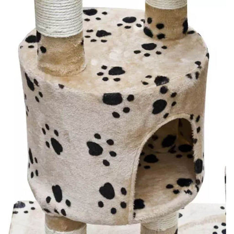 Image of Cat Play Tree Cuddles XL Very Soft Plush Fabric and Sisal Cat Gym Everyday Pets