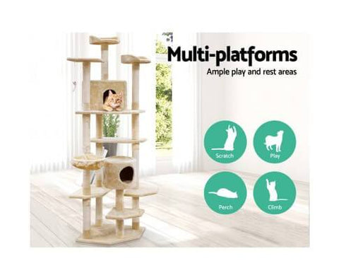Image of Cat Scratching Post Multi Level - 203 x 55 x 55cm