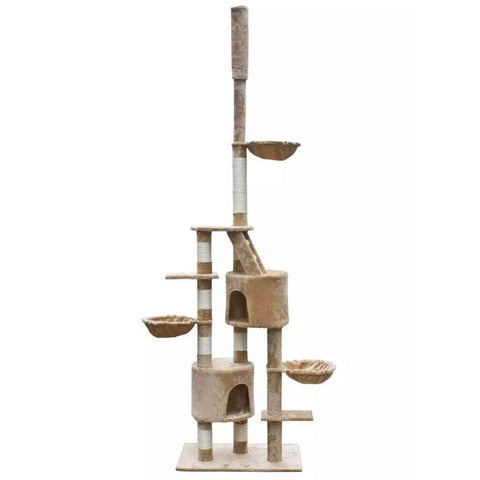 Image of Cat Tree Cuddles XL 230-260 cm Beige Plush Everyday Pets
