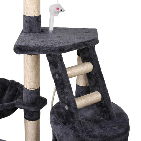 Image of Cat Tree Tower with Play Climb Ladder