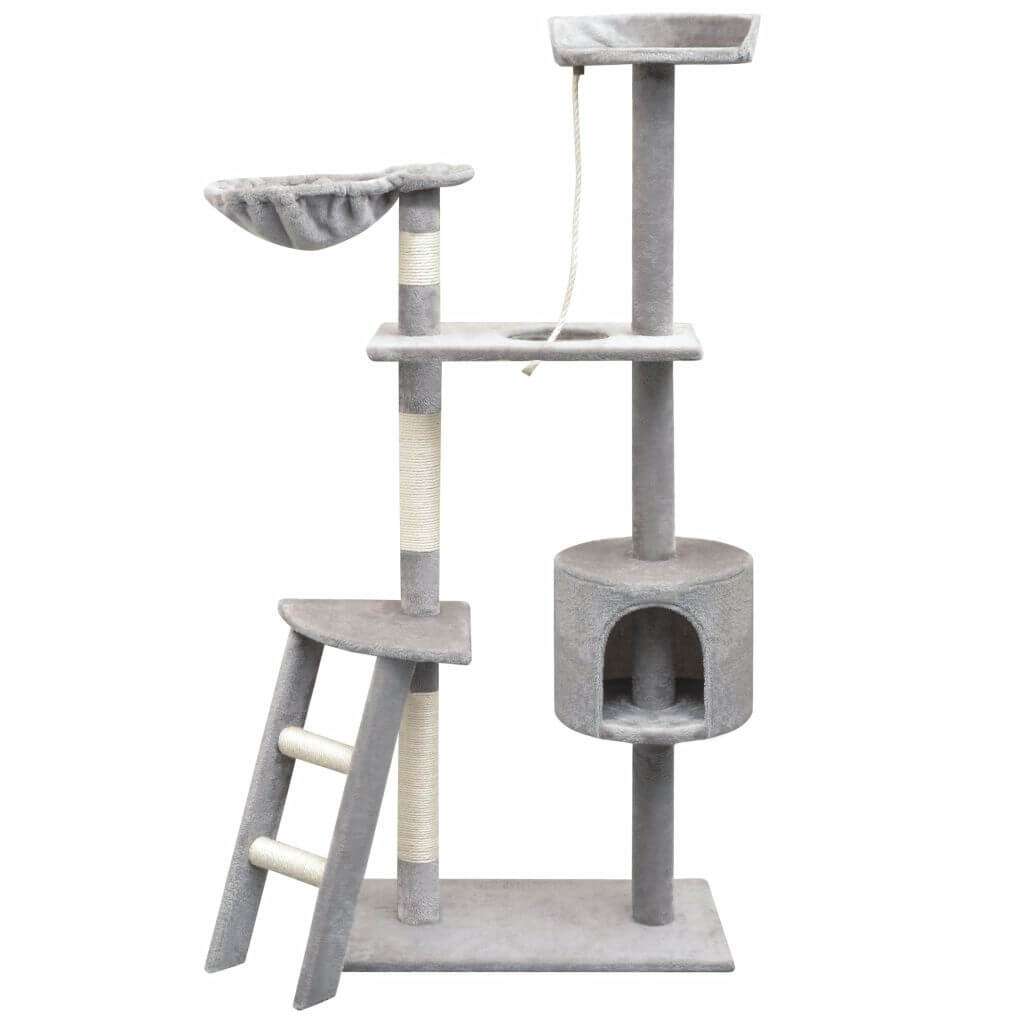 Cat Tree with Sisal Scratching Posts 150 cm Grey Everyday Pets
