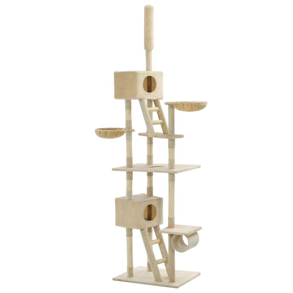 Cat Tree with Sisal Scratching Posts 230-260 cm Beige Everyday Pets