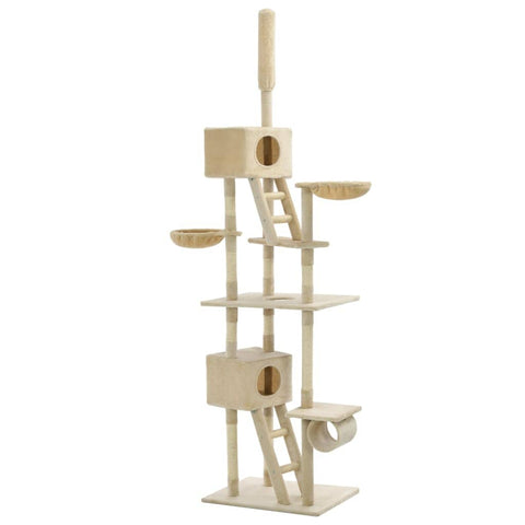 Image of Cat Tree with Sisal Scratching Posts 230-260 cm Beige Everyday Pets