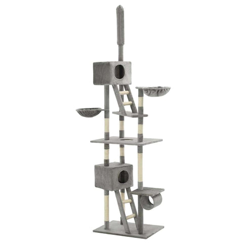 Image of Cat Tree with Sisal Scratching Posts 230-260 cm Grey Everyday Pets