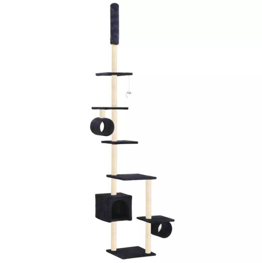 Cat Tree with Sisal Scratching Posts 260 cm Dark Blue Everyday Pets
