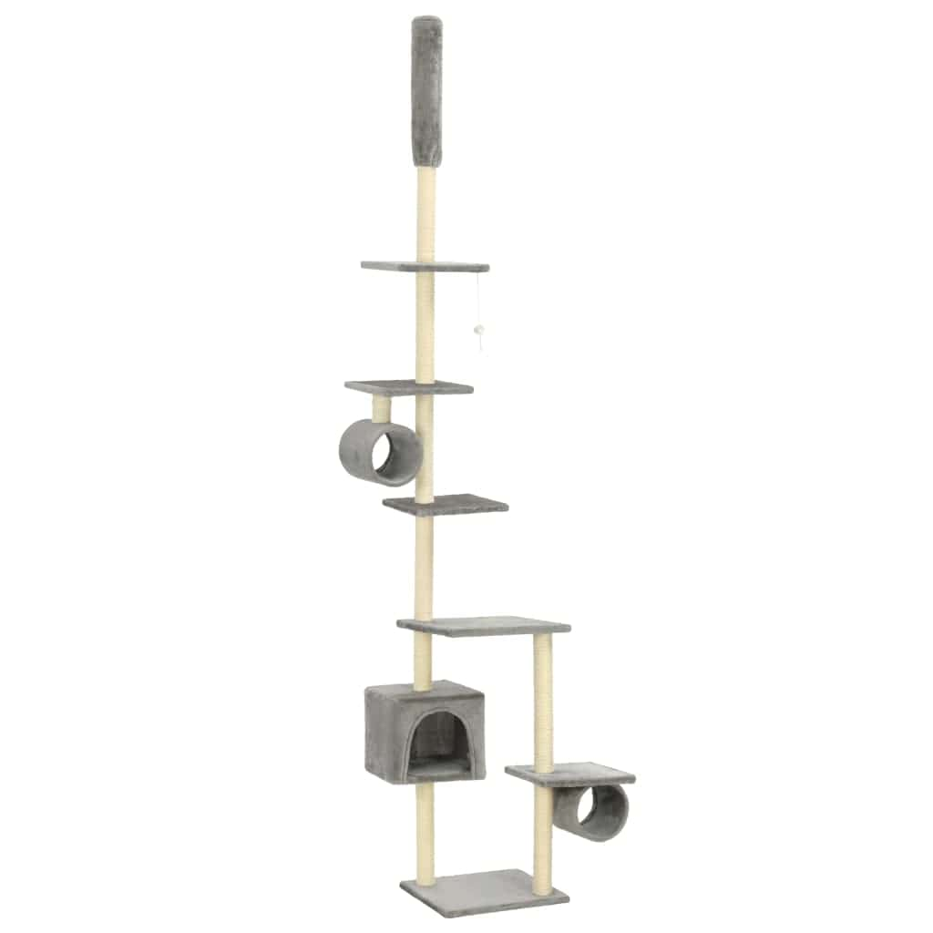 Cat Tree with Sisal Scratching Posts 260 cm Grey Everyday Pets