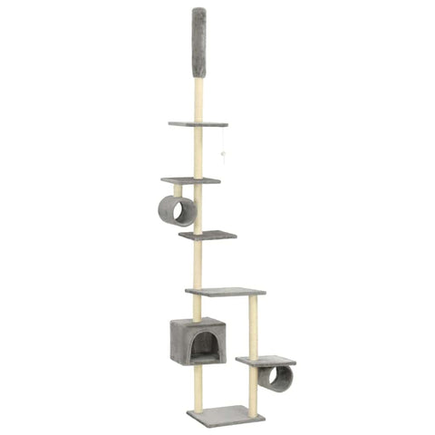 Image of Cat Tree with Sisal Scratching Posts 260 cm Grey Everyday Pets