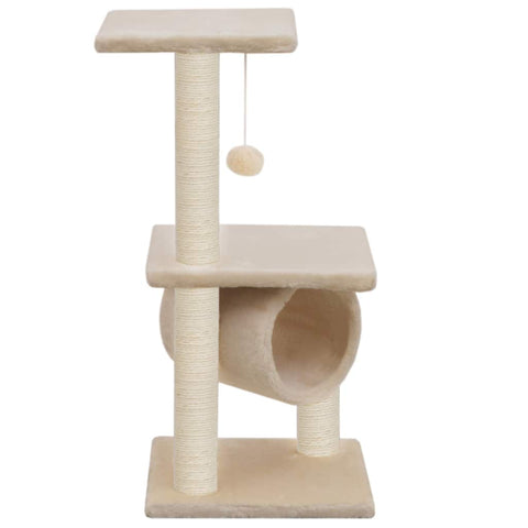 Image of Cat Tree with Sisal Scratching Posts 65 cm Beige