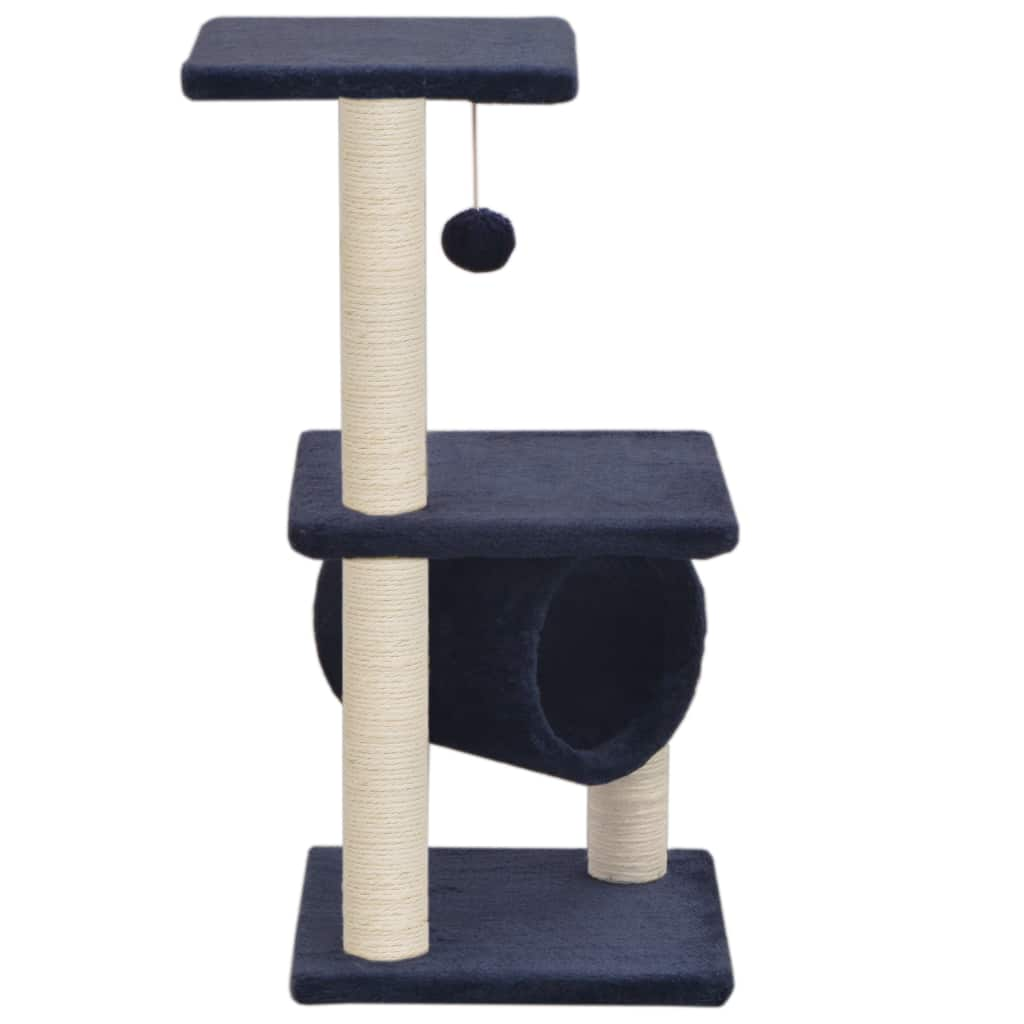 Cat Tree with Sisal Scratching Posts 65 cm Dark Blue Everyday Pets