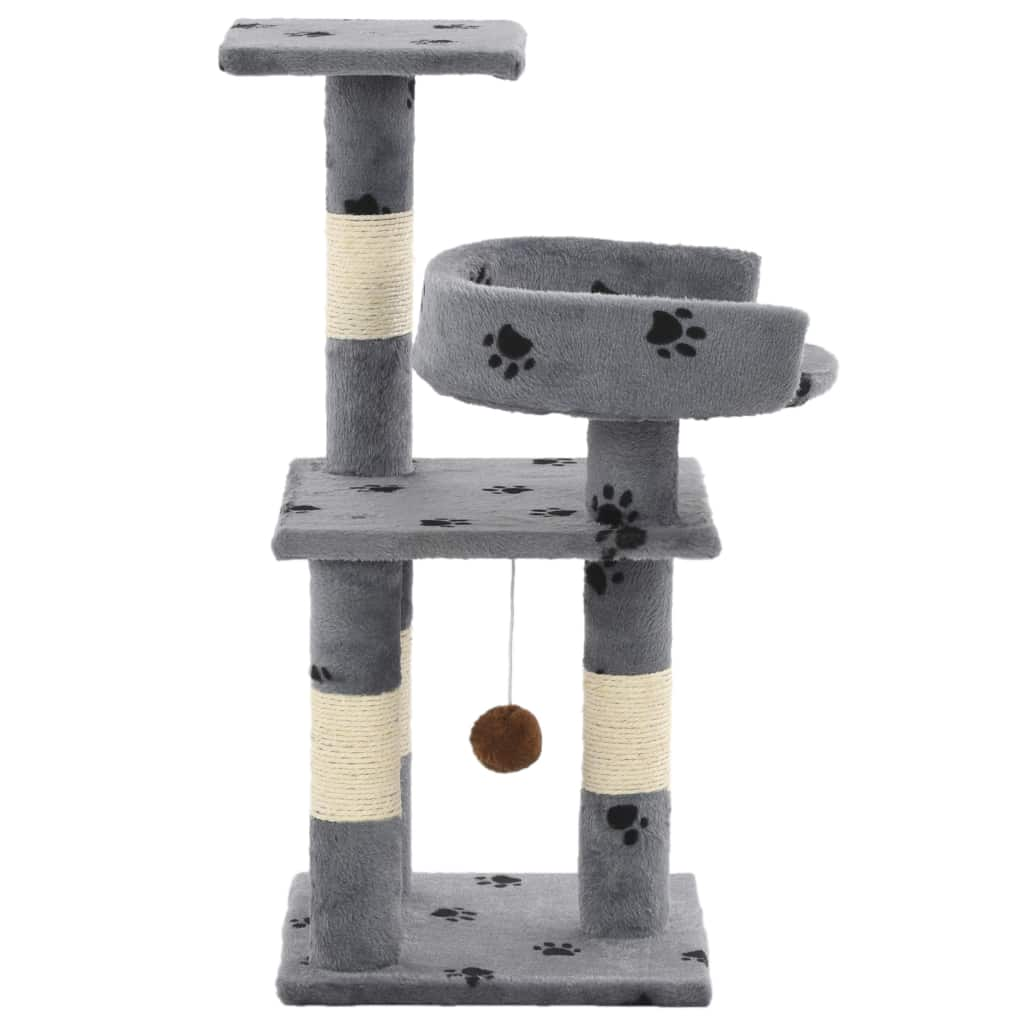 Cat Tree with Sisal Scratching Posts 65 cm Side View Everyday Pets