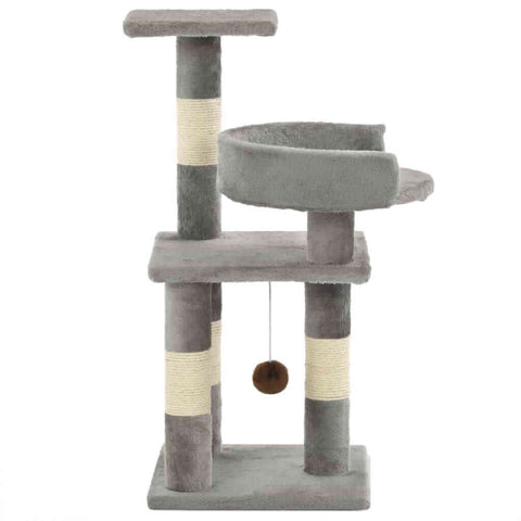 Image of Cat Tree with Sisal Scratching Posts 65 cm Side View Everyday Pets