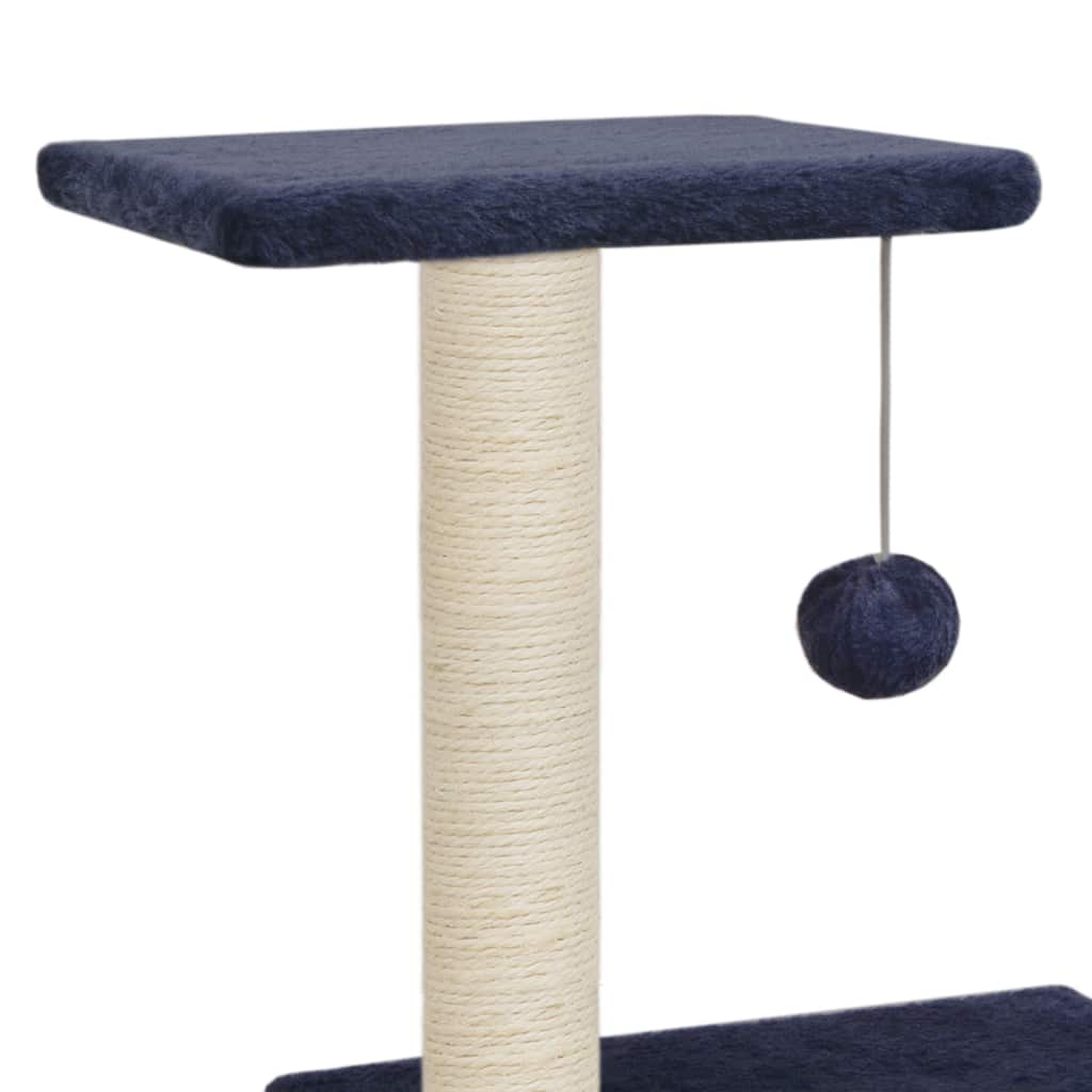 Cat Tree with Sisal Scratching Posts 65 cm Sisal Rope Post with Hanging Ball Toy Everyday Pets