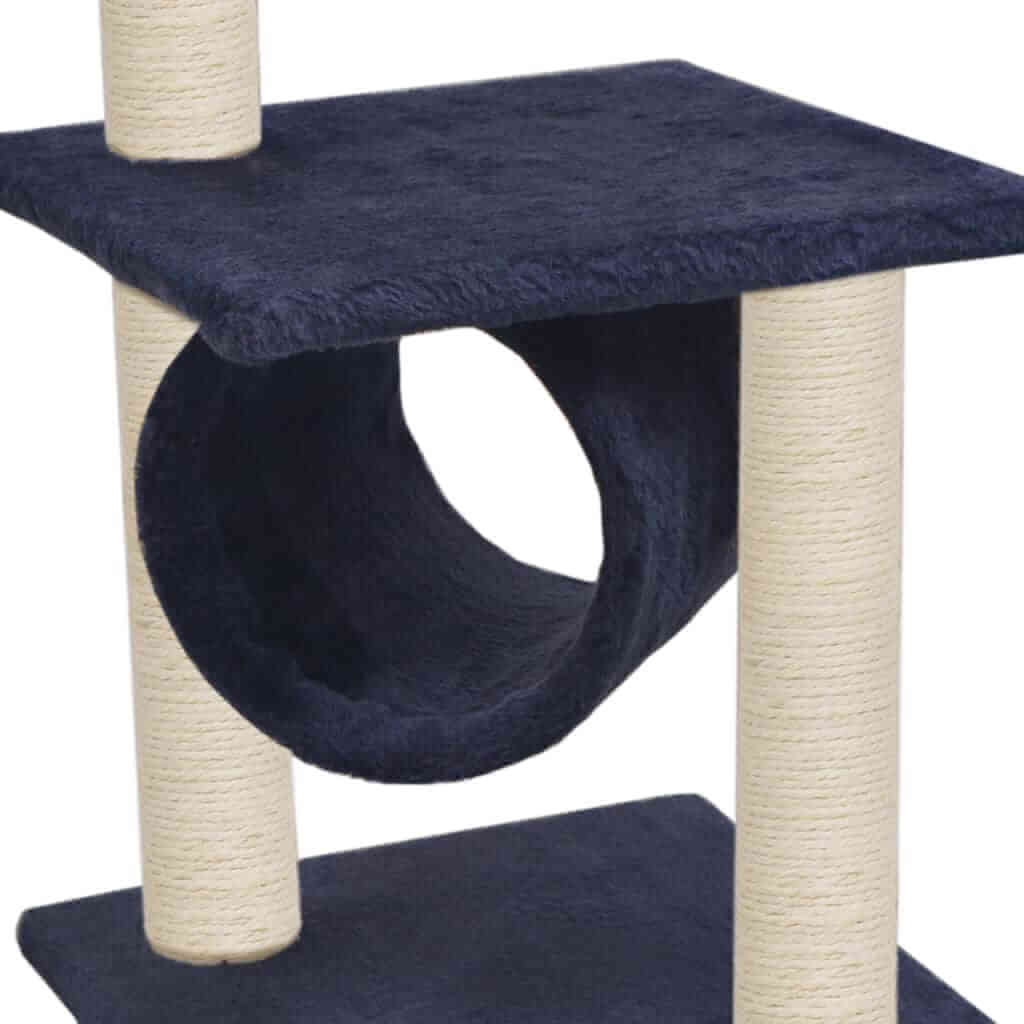 Cat Tree with Sisal Scratching Posts 65 cm Soft Plush Cover Cat Tunnel Everyday Pets