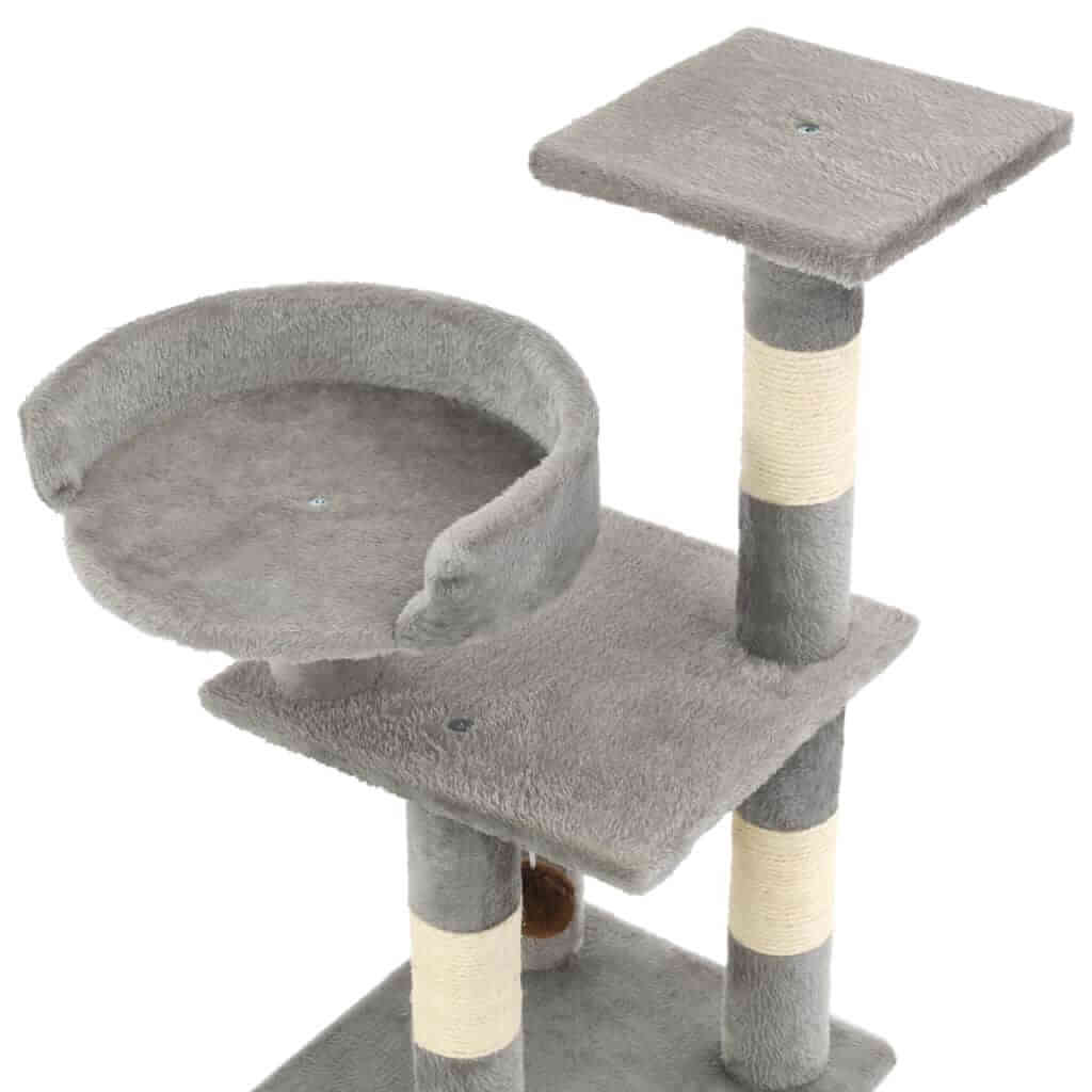 Cat Tree with Sisal Scratching Posts 65 cm Viewing Platform and Relaxing Area Everyday Pets
