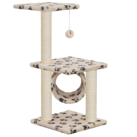 Image of Cat Tree with Sisal Scratching Posts 65 cm Viewing Platform and Relaxing Area Everyday Pets