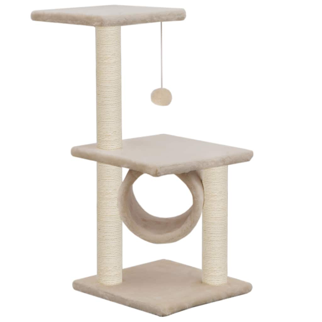 Cat Tree with Sisal Scratching Posts 65 cm Viewing Platform and Relaxing Area