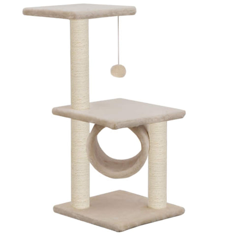 Image of Cat Tree with Sisal Scratching Posts 65 cm Viewing Platform and Relaxing Area