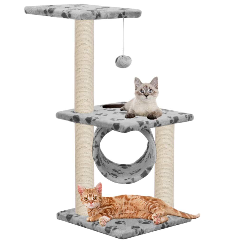Cat Tree with Sisal Scratching Posts 65 cm with Cats Everyday Pets
