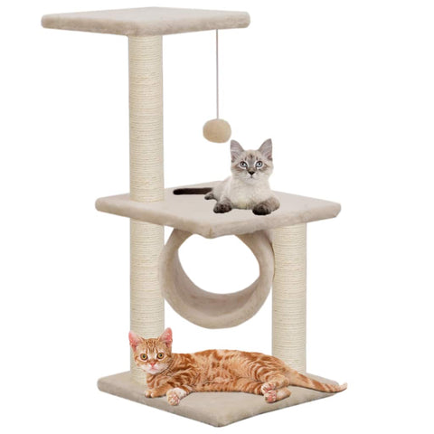 Image of Cat Tree with Sisal Scratching Posts 65 cm with Cats