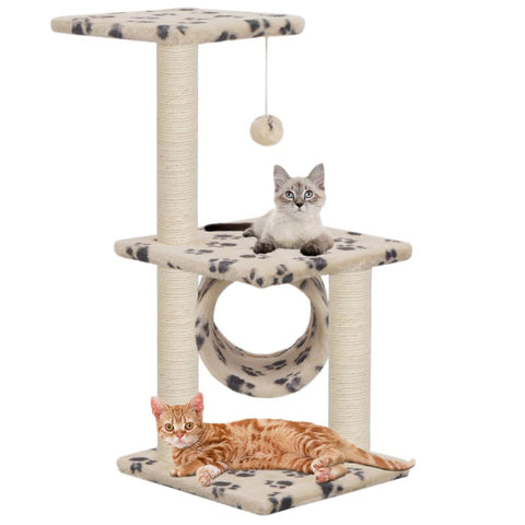 Image of Cat Tree with Sisal Scratching Posts 65 cm with Cats Everyday Pets
