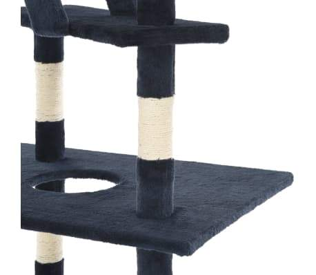 Image of Cat Tree with Sisal Scratching Posts Blue Platform Everyday Pets