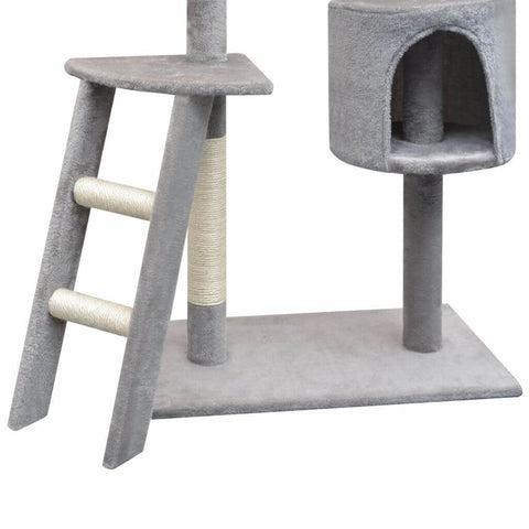 Image of Cat Tree with Sisal Scratching Posts Ladder and Sisal Rope Scratching Post Everyday Pets
