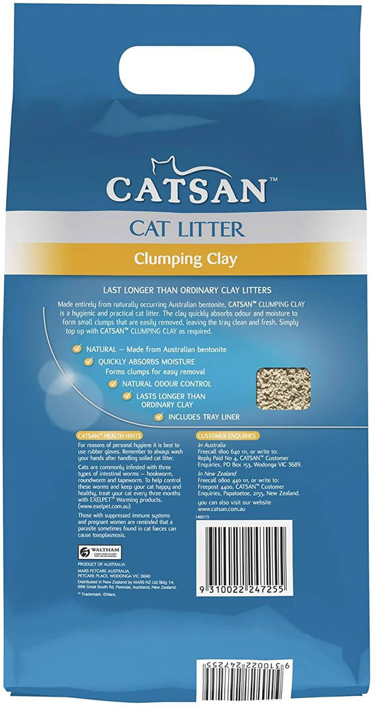 Catsan Cat Litter Clumping Clay 7kg Back