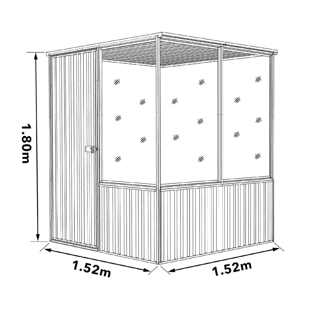 Chicken Coop 1.52mL x 1.52mW x 1.80mH Dimensions