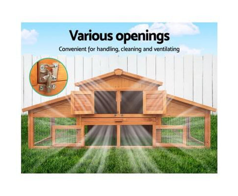 Image of Chicken Pen With Easy Access Doors