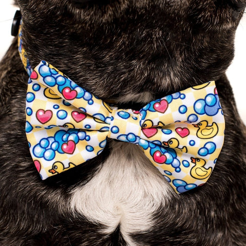 Image of Big-Little-Dogs-Comfort-Dog-Collar-and-Bow-Tie-Rubber-Ducky