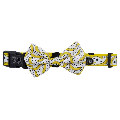 Image of Big-Little-Dogs-Comfort-Dog-Collar-with-Bow-Tie-Going-Bananas-3