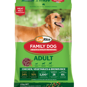 CopRice Adult Dog Family Dog Dry Food Chicken Veg & Brown Rice 20kg Everyday Pets